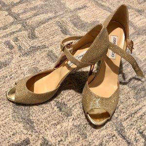 [Jimmy Choo] Brand New Gold Heels